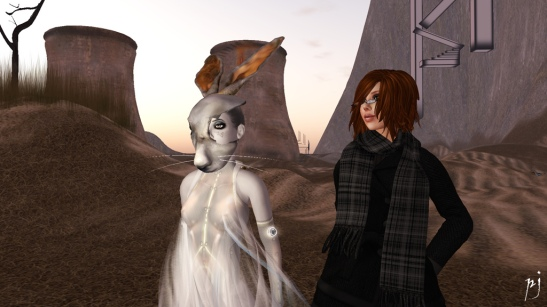 Contemplating Immersiva with Rabbit-faced Bryn.